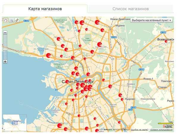 Магазины Санкт Петербурга На Карте