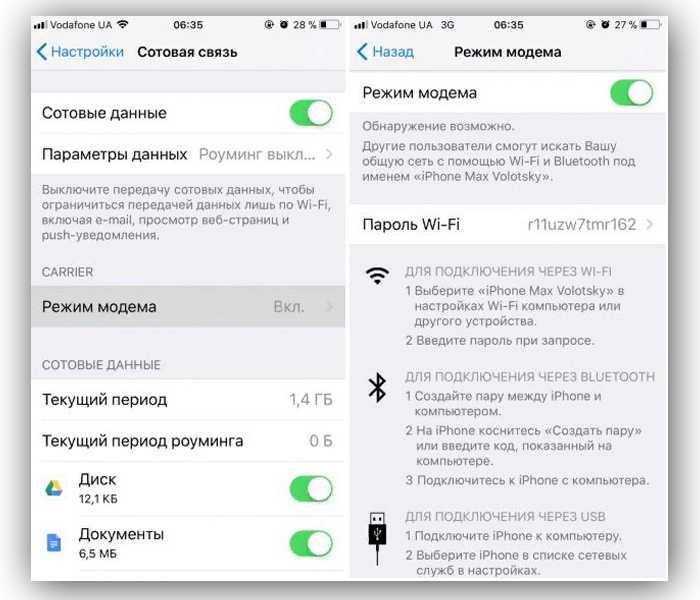 Режим модема на iphone и ipad. как раздать интернет с iphone по wi-fi, usb и bluetooth