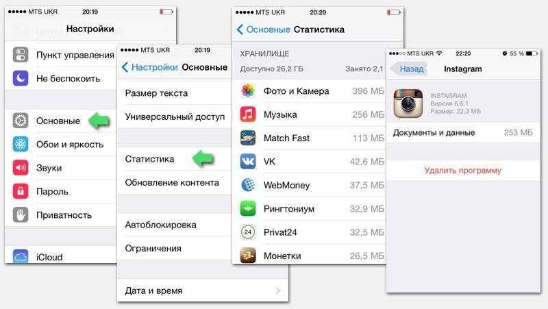 Как очистить память и кэш на iphone - способы освобождения памяти на айфоне